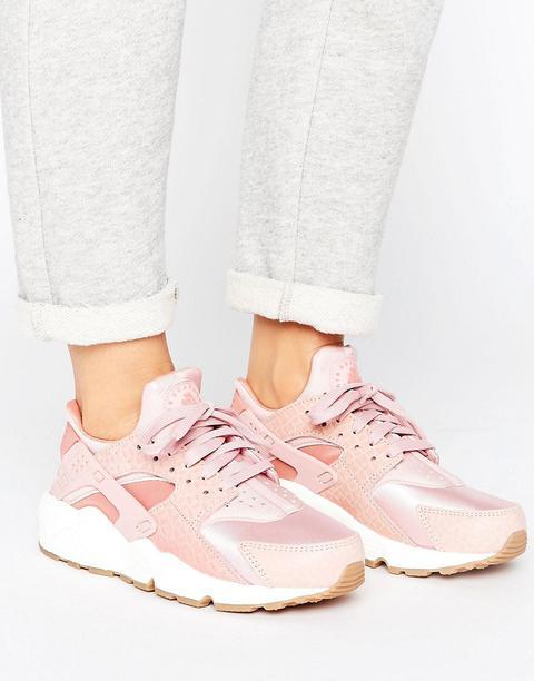 nike air huarache run rosa