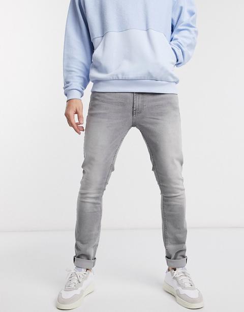 Burton Menswear Skinny Jeans In Grey