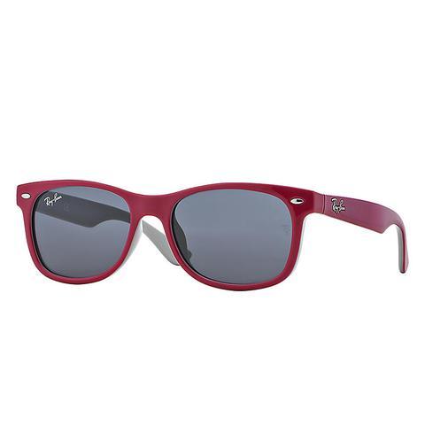 New Wayfarer Junior Unisex Sunglasses Lentes: Gris, Montura: Violeta de Ray-Ban en 21 Buttons