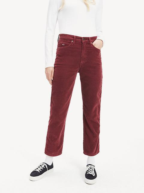 Pantalón Cropped De Pana Y Corte Recto de Tommy Hilfiger en 21 Buttons