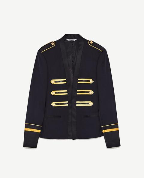 nueva colección 5c7b0 2acda Chaqueta Cintas Doradas from Zara on 21 Buttons
