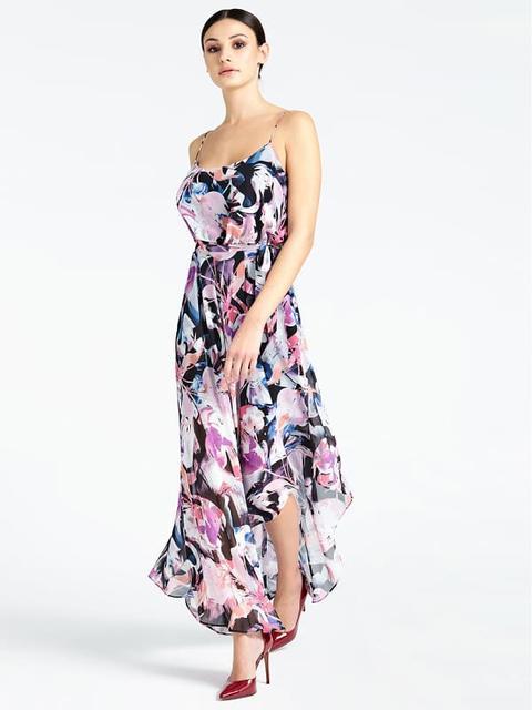 Vestido Asimétrico Marciano Estampado Floral de Guess en 21 Buttons
