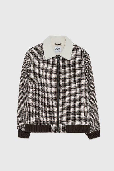 Cazadora Cuadros Combinado de Zara en 21 Buttons