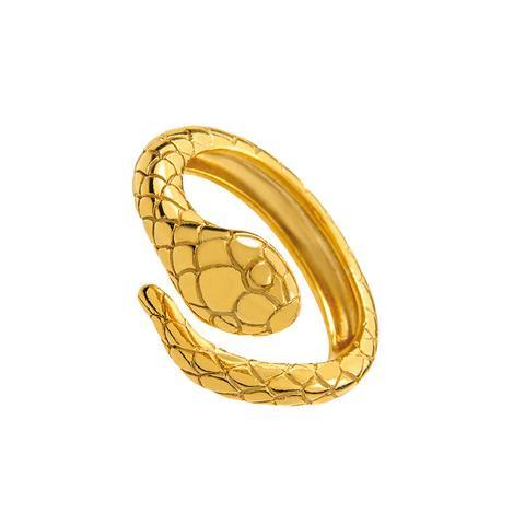 Anillo Serpiente Plata Recubierta Oro