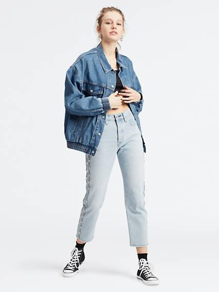 501® Crop Jeans Azul / Indigo de Levi's en 21 Buttons