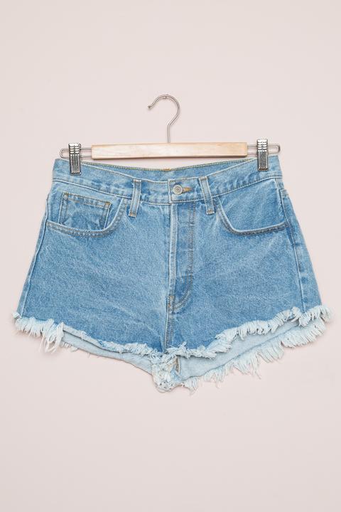 Adrian Bouquet Embroidery Denim Shorts
