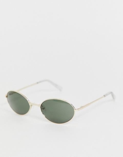 Gafas De Sol Doradas Redondas Nowhere De Le Specs de ASOS en 21 Buttons