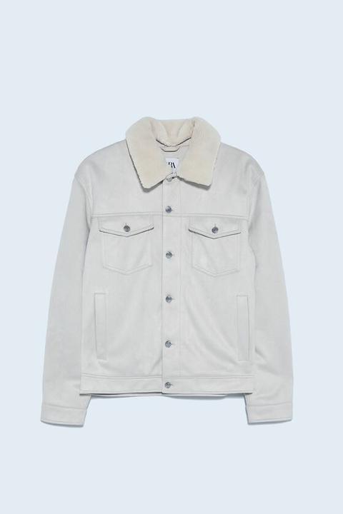 Cazadora Acolchada Combinado de Zara en 21 Buttons