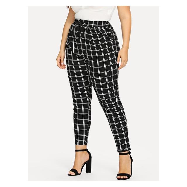 Pantalones De Cuadros De Talla Grande From Shein On 21 Buttons