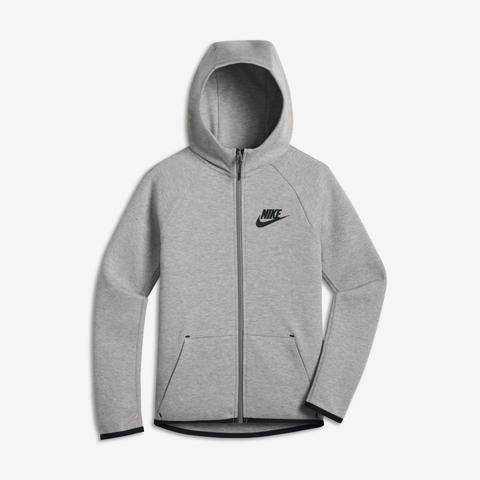 Giacca Con Zip A Tutta Lunghezza Nike Sportswear Tech Fleece - Ragazzi - Grigio de Nike en 21 Buttons