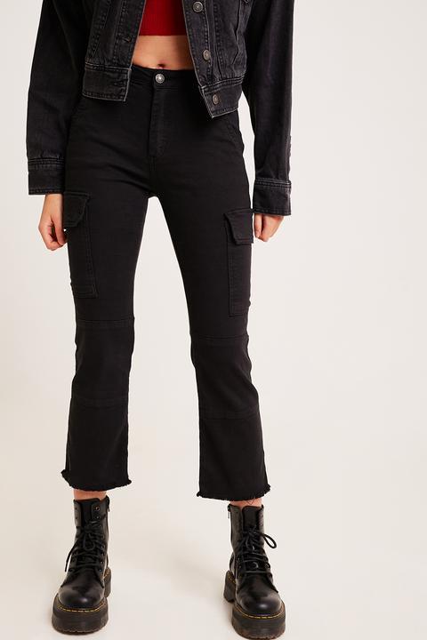 verse bien zapatos venta zapatos de temperamento oficial Pantalones Combat Crop Flare from SUBDUED on 21 Buttons