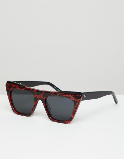 Gafas De Sol Cuadradas En Rojo Dakota De Vow London de ASOS en 21 Buttons