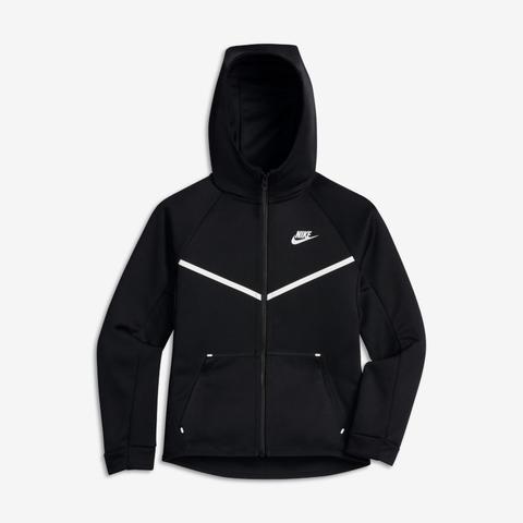 Felpa Con Cappuccio E Zip A Tutta Lunghezza Nike Sportswear - Ragazzo - Nero de Nike en 21 Buttons