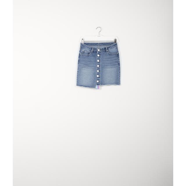 21 From Buttons In Jeans Zuiki On Mini Gonna Tlu1F3KJc