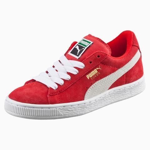 Zapatillas Juveniles Suede, Blanco/rojo, Talla 37 | Puma de Puma en 21 Buttons