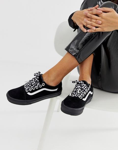 Vans Old Skool Premium Sneakers Nere Con Lacci A Scacchi Nero di ASOS su 21 Buttons