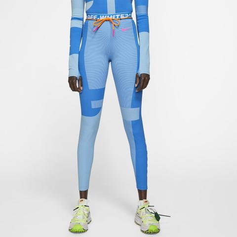 semilla Oblongo Contratar  Nike X Off-white Damen-lauf-tights - Blau from Nike on 21 Buttons