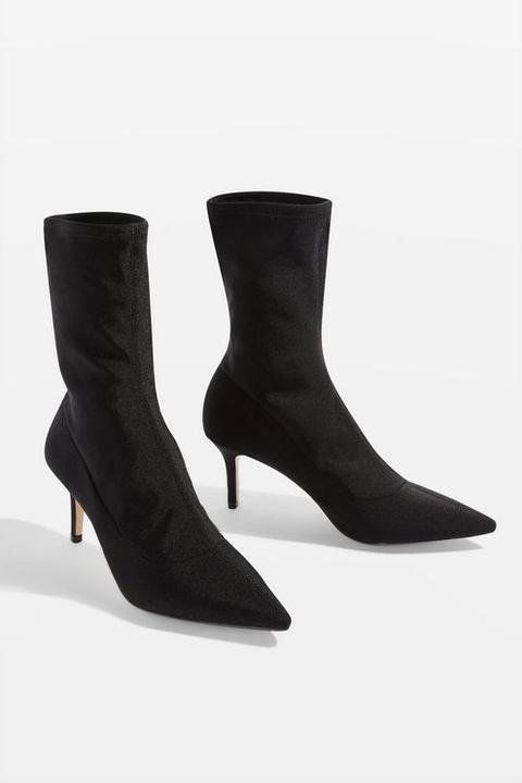 Womens Mojito Sock Boots - Black, Black