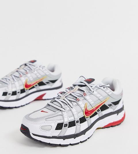 Zapatillas De Deporte En Blanco Y Rojo P-6000 De Nike de ASOS en 21 Buttons