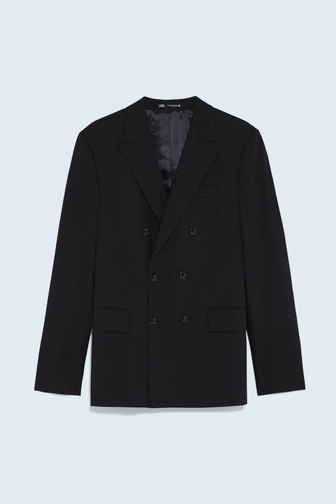 Blazer Cruzada Conjunto Cinzato Comfort de Zara en 21 Buttons