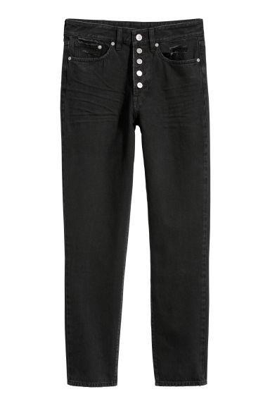 zum halben Preis neuartiges Design Suche nach Beamten Mom Jeans - Schwarz - Damen from H&M on 21 Buttons