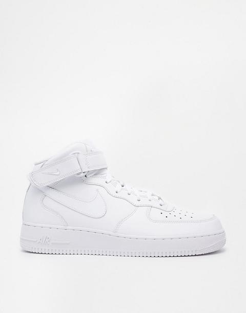 Nike - Air Force 1 Mid '07 315123-111 - Scarpe Da Ginnastica Bianche - Bianco