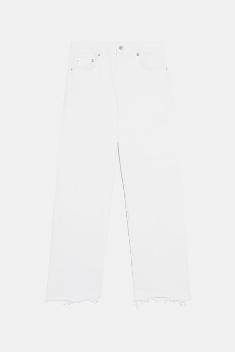 Jeans Zw Premium Hw Culotte White