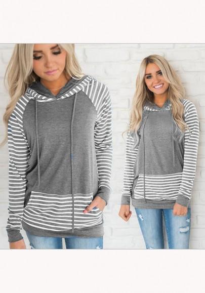 Grau Mode Damen's Pullover, Suche Cichic