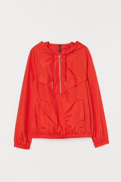 mejor sitio discapacidades estructurales comprar lo mejor H & M - Anorak Con Mangas Raglán - Rojo from H&M on 21 Buttons