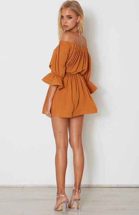 All Of The Stars Mini Dress Rust