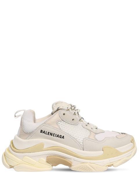 """Sneakers """"triple S"""" De Nylon Y Piel 60mm"""