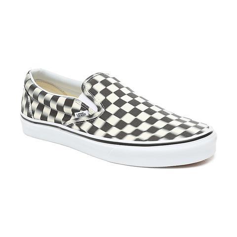 Vans Blur Check Slip-on Shoes ((blur