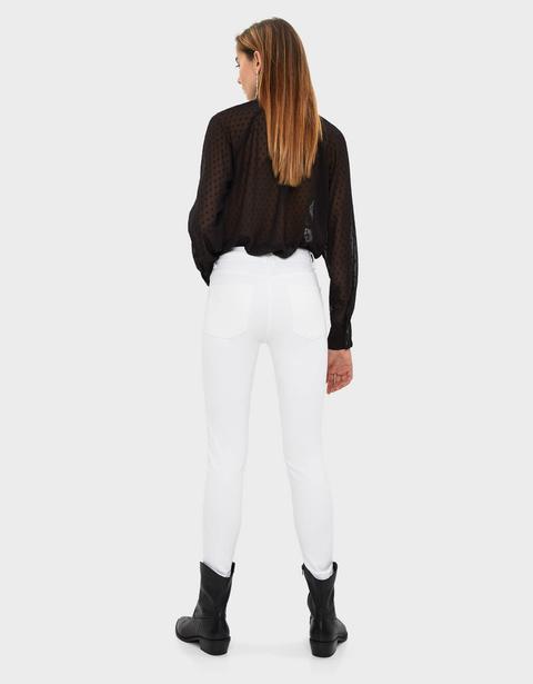 Jeans Skinny Cropped A Vita Media