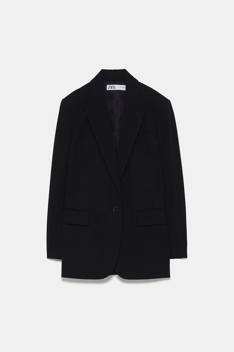 Oversize-blazer Mit Knopf from Zara on 21 Buttons