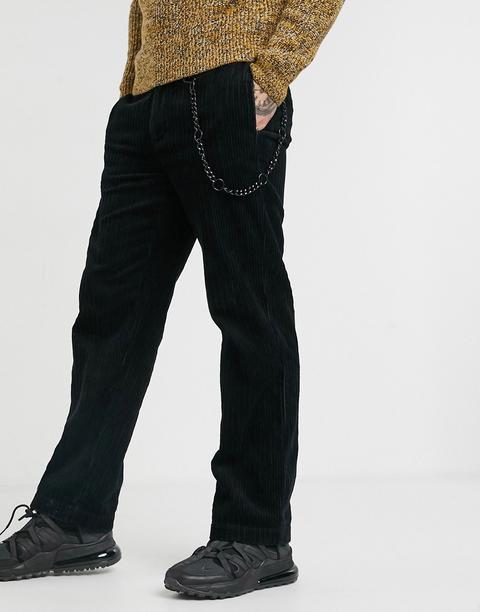 Pantalones De Pernera Ancha De Pana Negra De Topman-negro de ASOS en 21 Buttons