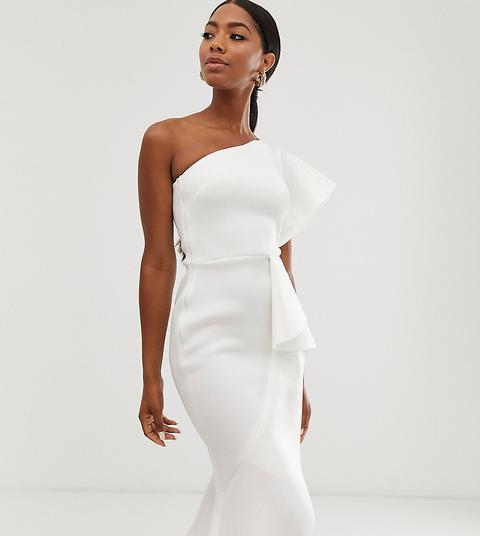 Vestido Midi Asimétrico En Blanco Exclusivo De True Violet de ASOS en 21 Buttons