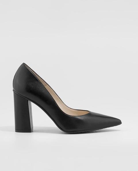 Lodi - Zapatos De Salón De Mujer De Piel Con Tacón De Bloque En Color Negro de El Corte Ingles en 21 Buttons