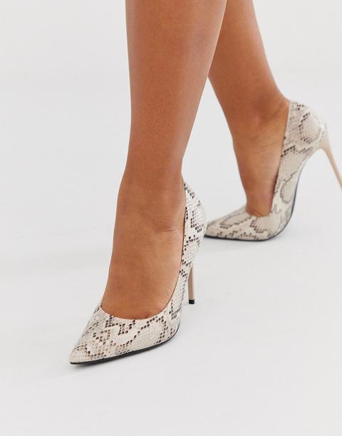 Zapatos De Tacón De Aguja En Punta Con Diseño De Serpiente De Truffle Collection