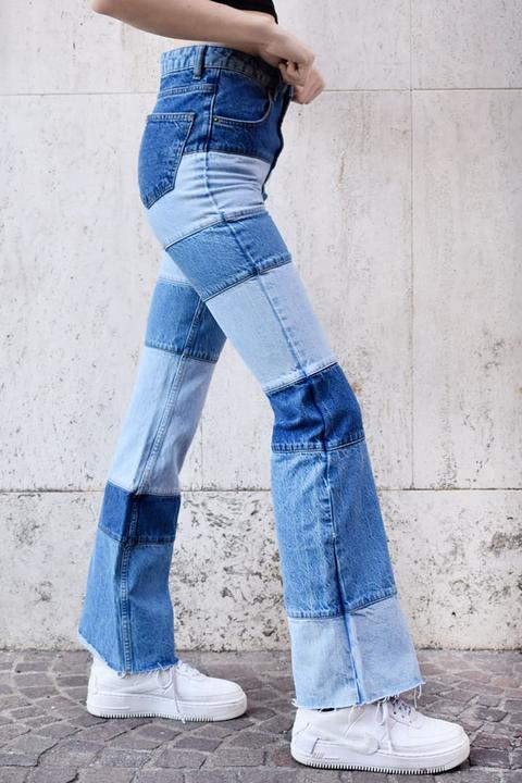 Jeans Campana Patchwork