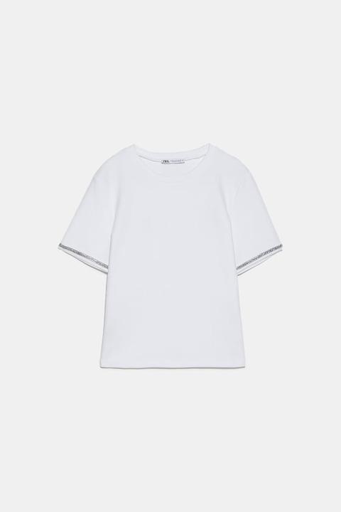 Yumuşak Dokulu Parlak T Shirt From Zara On 21 Buttons