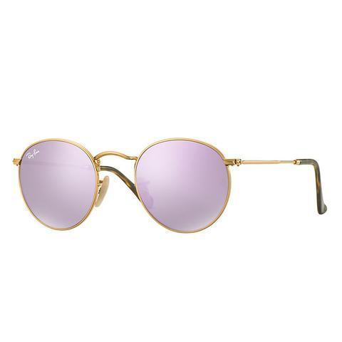 ultimo di vendita caldo design unico vendita calda genuina Ray Ban Round Flat Lenses Unisex Sunglasses Lenti: Viola, Montatura: Oro -  Rb3447n 001/8o 50-21 from Ray-Ban on 21 Buttons