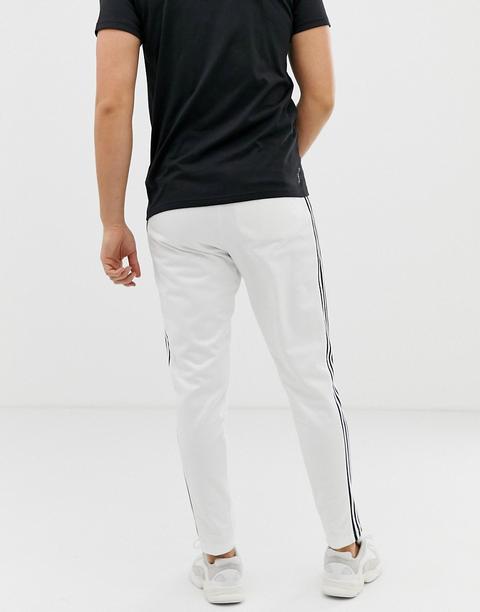 Adidas Originals - Beckenbauer - Pantalon De Jogging Avec 3 Bandes - Blanc  from ASOS on 21 Buttons
