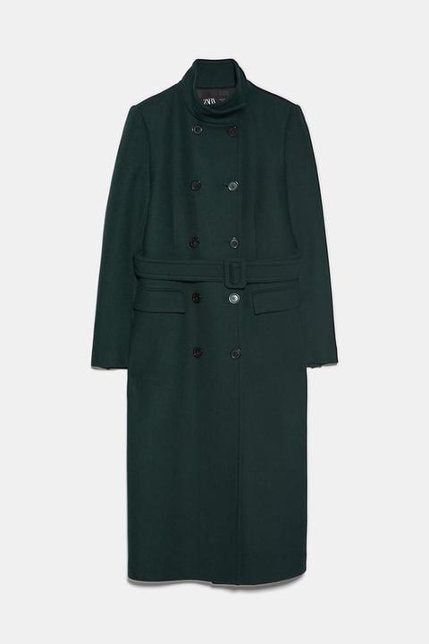 Abrigo Cuello Subido de Zara en 21 Buttons