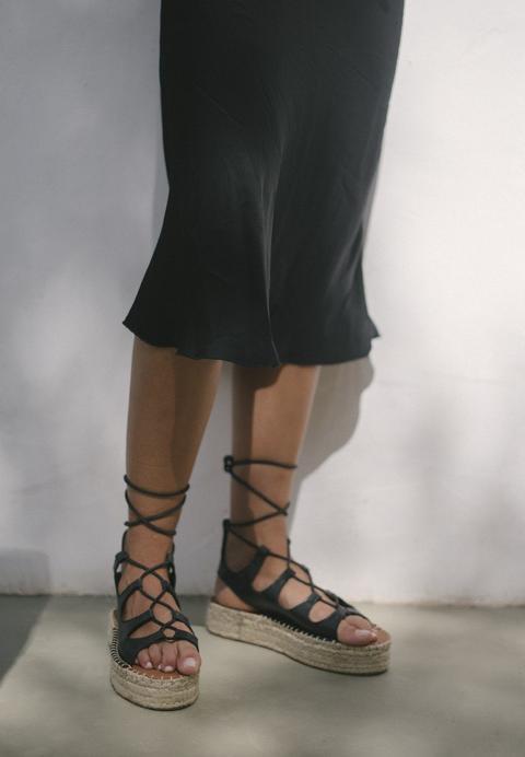 Gladiator Black de Alohas Sandals en 21 Buttons