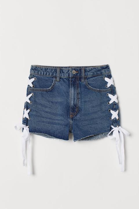 43f3b7bb9 H & M - Denim Shorts High Waist - Blue from H&M on 21 Buttons