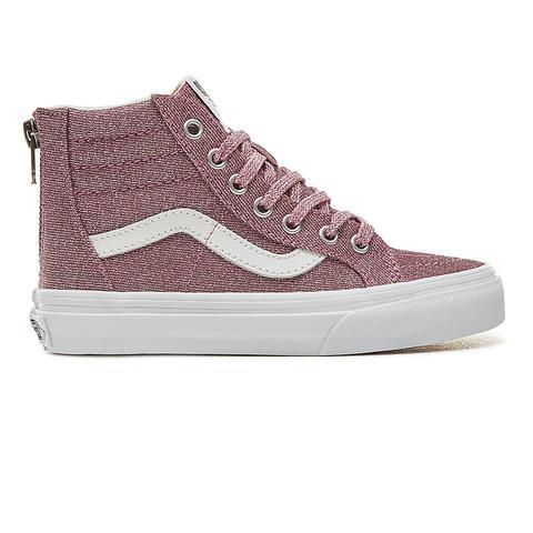 nuovo prodotto 24378 641b2 Vans Scarpe Bambino Sk8-hi Con Glitter E Zip In Lurex (4-12 Anni) ((lurex  Glitter) Pink/true White) Bambino Rosa from Vans on 21 Buttons