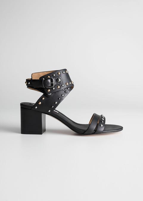 Studded Sandalette Pumps