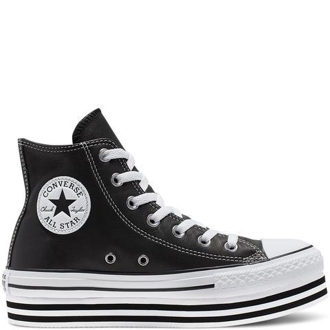Converse Chuck Taylor All Star Platform High Top Black, White de Converse en 21 Buttons