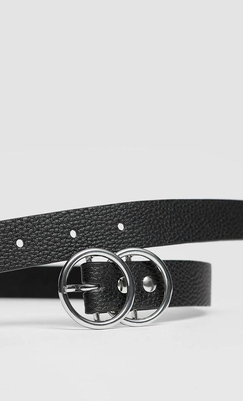 Cinturón Fino Hebilla Cruzada