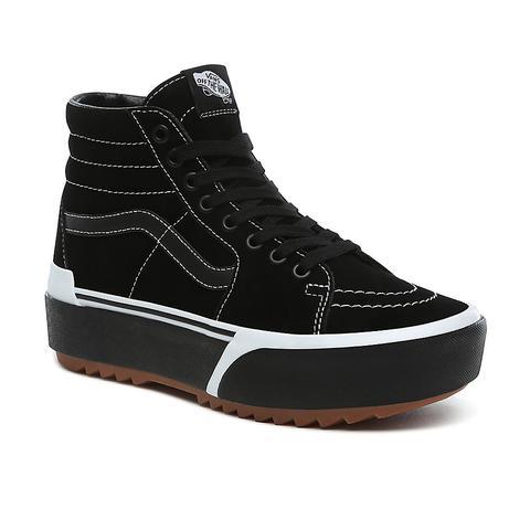 Vans Suede Sk8 hi Stacked Shoes ((suede) Blackgum) Women White de Vans en 21 Buttons